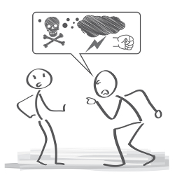 Anspucken kann als Beleidigung im Rahmen einer Tätlichkeit gewertet werden.