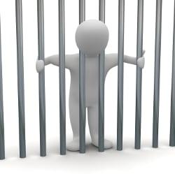Meist muss die Untersuchungshaft in einer Zelle abgesessen werden.
